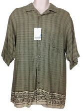 NWT Fieldmaster Men's Taupe/ Khaki, Short Sleeve, Button Front Casual Shirt Sz M