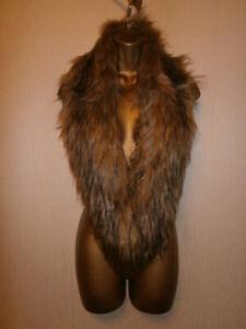 BNWT - Topshop - Brown Faux Fur Collar / Stole / Wrap