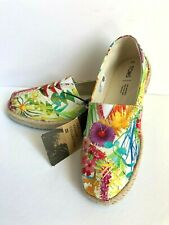 New TOMS Sunshine Floral Delight Rope Classic Canvas Flats Shoes Sz 7.5 8