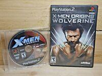 PS2 X-Men Lot X-Men Origins Wolverine & X-Men Legends PlayStation 2 Tested