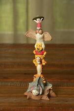 Winnie the Pooh Eeyore Tigger Piglet Resin Totem Pole Disney Statue