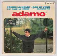 *** Tombe la Neige  / Car je Veux / Le Train Va *** Adamo - EGF 683 - 45T ancien
