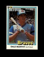 1981 Donruss Baseball #437 Dale Murphy (Braves) NM-MT