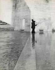 1955 Vintage PONT DE LA TOURNELLE BRIDGE Fishing France 16x20 By ROBERT DOISNEAU