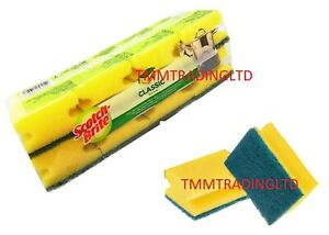 8/16/24 Scotch Brite Classic Heavy Duty Sponge Scourer Easy Grip Scrub Sponge