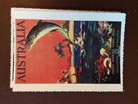 g1f postcard unused reprint  card australia great barrier reef coral big fish