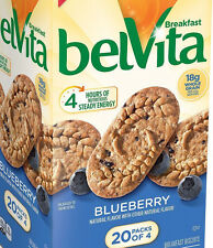 20 belVita Blueberry Breakfast Biscuits Cookies Rolled Oats Energy Bars Snacks