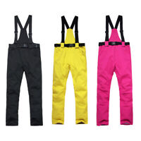 Winter Thermal Skiing Pants Waterproof Insulated Snow Overall Trouser Outfit