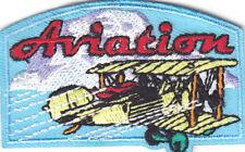 """AVIATION"" Iron On Patch Aircraft Transportation Planes Airplanes Flight"
