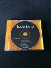 ❤️HARDBACK PROMO CD❤️The Thought Of It~Louie Louie (George Michael/Andros/Wham!)