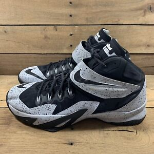 Nike Mens Lebron Zoom Soldier VIII 688579-001 Wolf Gray Basketball Shoes Size 13