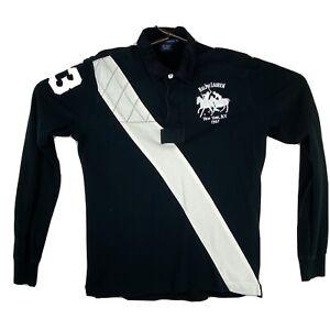 Polo Ralph Lauren NYC #3 Rugby Shirt Teens XL Crest Logo Long Sleeve Stripe