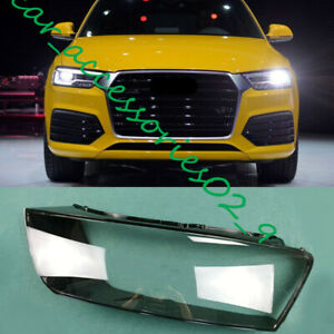 For Audi Q3 2016-2017 1PC Left Side Headlight Cover Transparent PC With Glue