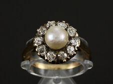 Antiker Diamantring ca. 0,60ct mit Perle  585/- Gelbgold
