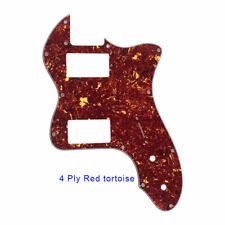 Classic telecaster 72 thinline Guitar Pickguard PAF Humbucker Red Tortoise