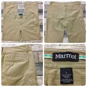 Marmot Hiking Pants Women's 8 (W32 L30) Beige (A1) 94/6 Polyester Elastane