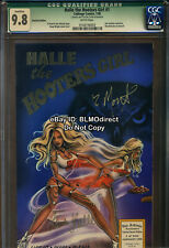 CGC 9.8 1998 Halle The Hooters Girl #1 Foil Signed Recalled Error Highest Graded