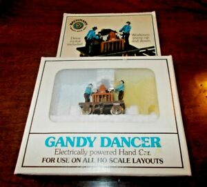 BACHMANN 5 GANDY DANCER No.46202 In OIGINAL PACKAGE, ELECTRILLY POWERED HAND CAR
