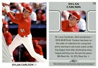 DYLAN CARLSON RC 2020 Leaf Baseball 10 Card Release #3 ROOKIE Cardinals
