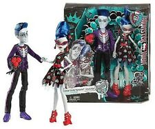 "New in Box Monster High Sloman ""Slo Mo"" Mortavitch & Ghoulia Yelps 2 Doll Set"
