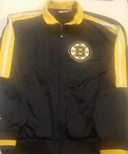 Boston Bruins Mens Full-Zip Jacket NHL Majestic LARGE L BLACK YELLOW HOCKEY