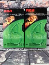 Lot of 2 RCA Blank T-120  VHS Tapes for 6 Hour Daily Recording NEW