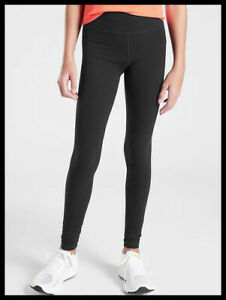 NWT Athleta Girl High Rise Chit Chat Tight Size L/12 Color Black