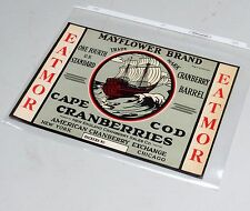 Vintage Unused Cape Cod Cranberries Mayflower Brand Shipping Crate Label, EXC!