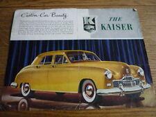 KAISER CAR COLOUR BROCHURE 1948 USA