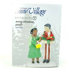 Dept 56 Snow Village Merry Christmas Pastor Church Lady Religious 6003145 New
