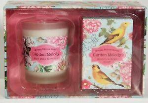 Michel Design Works Candle & Soap Gift Set: GARDEN MELODY~NIGHT BLOOMING FREESIA