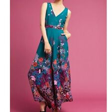 Authentic Anthropologie Maeve Andalusia Jumpsuit Size 0 Retail $138