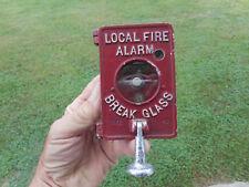 VINTAGE AUTOCALL LOCAL FIRE ALARM BOX - BRAKE GLASS