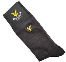 Gifts For Men LYLE & SCOTT Mens SK701AS Charcoal Marl Stripe Socks One Size 7-11