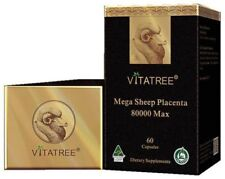 VitaTree Maxi Sheep Placenta 80000 Max 60 Capsules Made In Australia