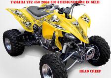 Invision décor Graphic Kit ATV yamaha yfz 450 04-14,yfz 450r Head Creep Décalques B