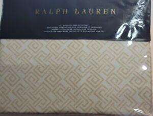 Ralph Lauren Weston Park Cotton Cal King Extra Deep Fitted Sheet Hutchings Cream