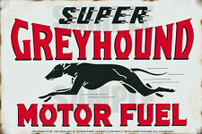GREYHOUND MOTOR FUEL SERVICE STATION WEATHERED BUILDING SIGN DECAL 3X2 DD111