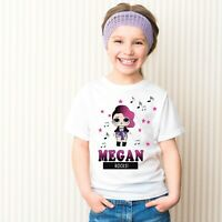 LOL Dolls Personalised T-shirt Any Name Featuring Rocker Girls T shirt
