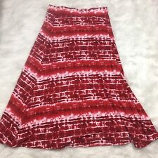 Versona Maxi Long Skirt Size L Large Junior Tie Dye Red White Summer Rayon Poly