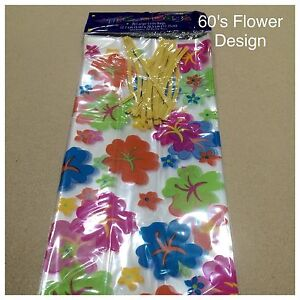 Cello Bag 60's Flower Design Clear 20 count - Brand New - Excellent Quality