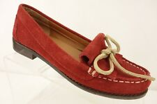 LUCKY BRAND Kiltie Loafers Women's 6.5 M Red Suede Leather Shoes Bow