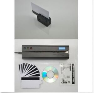MSR605X+MINIDX3 Magnetic Credit Card Swipe Reader Writer Encoder Portable reader