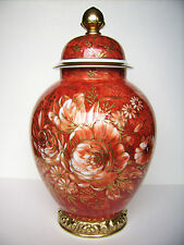 "Rosenthal Porzellan Deckelvase Prunk-Vase ""Zaubergarten"" H=40cm Classic Rose Top"