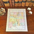 Large Original 1898 Antique Map NEW MEXICO Clovis Carlsbad Farmington Rio Rancho