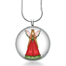 Christmas Angel necklace - Crafty Angel Jewelry - Christmas Pendant- Wings