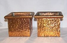 Mid-Century Arts & Crafts Hand Hammered Solid Copper Containers Artistic mfg co