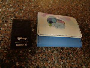 Loungefly Stitch Sleeping on Clouds Mini Flap Wallet Scrump NWT