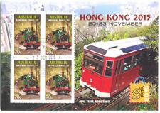 Australia-Trains-Trams min sheet fine used cto 2015-Hong Kong