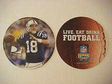 BEER Drink COASTER ~*~ Live. Eat. Drink. FOOTBALL ~*~ DirecTV Sunday NFL Ticket